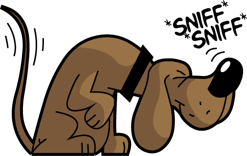 a110-dog-sniffing-clipart